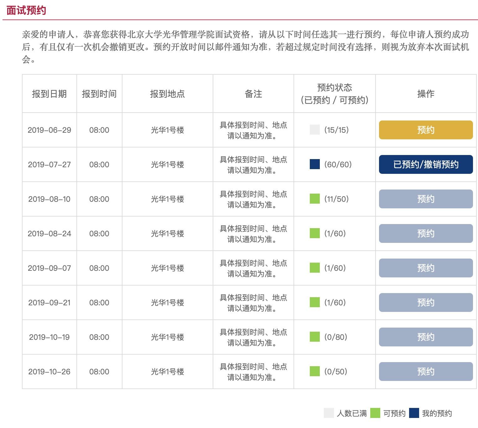 速报:北大北京MBA第二轮名额已满,最近面试已至8月